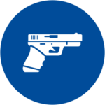An icon of a gun