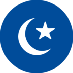 An icon of a star and crescent