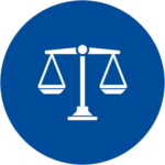 An icon of scales of justice
