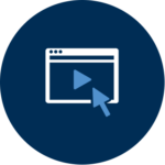 An icon representing a webinar