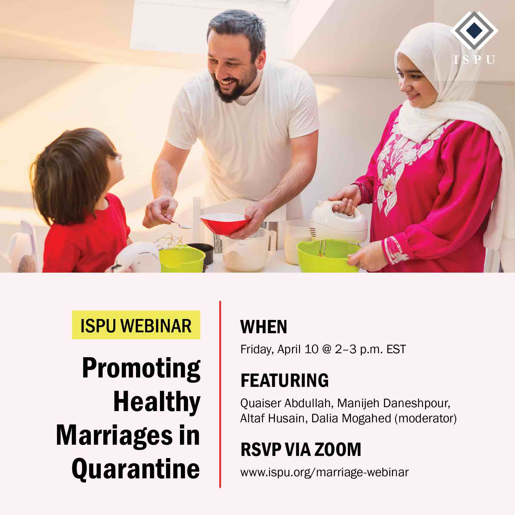 Webinar: Promoting Healthy Marriages in Quarantine graphic