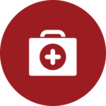 A box of medical supplies icon