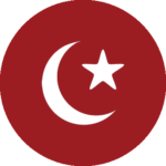 A crescent and star icon
