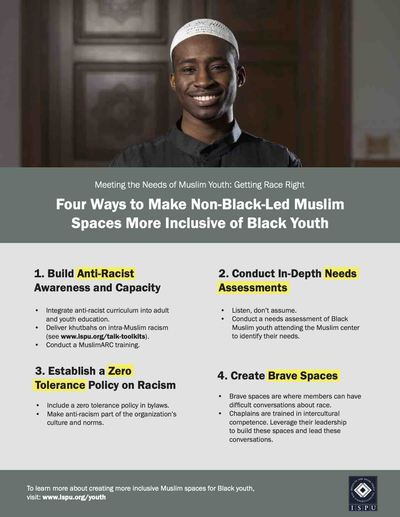Infographic: Four Ways to Make Non-Black-Led Muslim Spaces More Inclusive of Black Youth