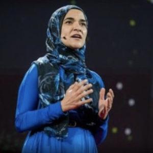 Dalia Mogahed giving a TED talk