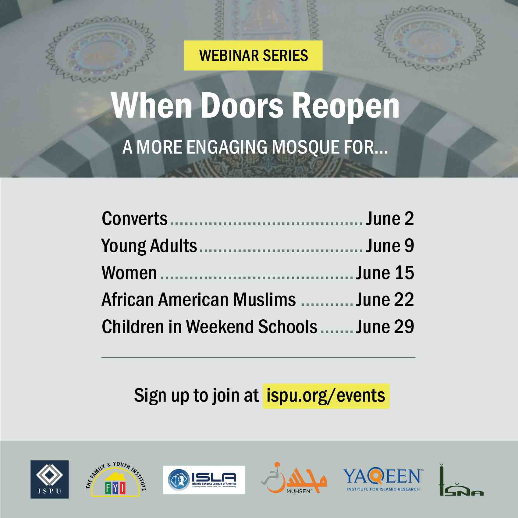 Webinar Series - When Doors Reopen graphic