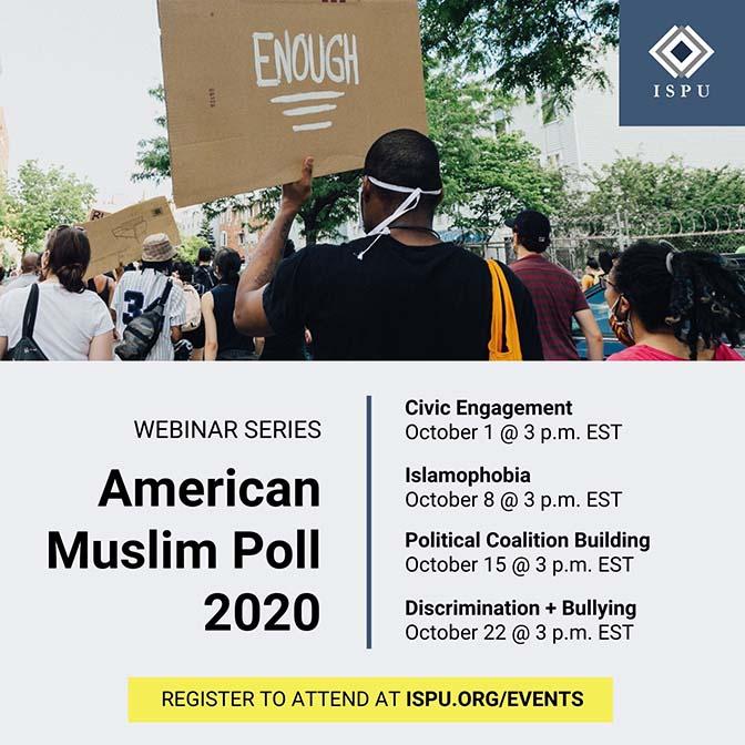 American Muslim Poll 2020 marketing graphic