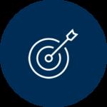 An icon of an arrow in the bullseye of a target